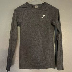 Gymshark Long Sleeve Grey Top
